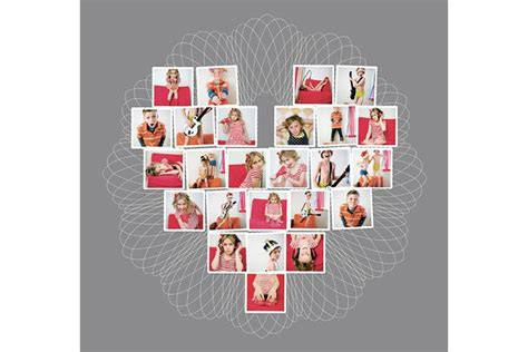 Heart Collage Template For Photoshop And Indesign Design Aglow Free Shaped Photo Collage Template