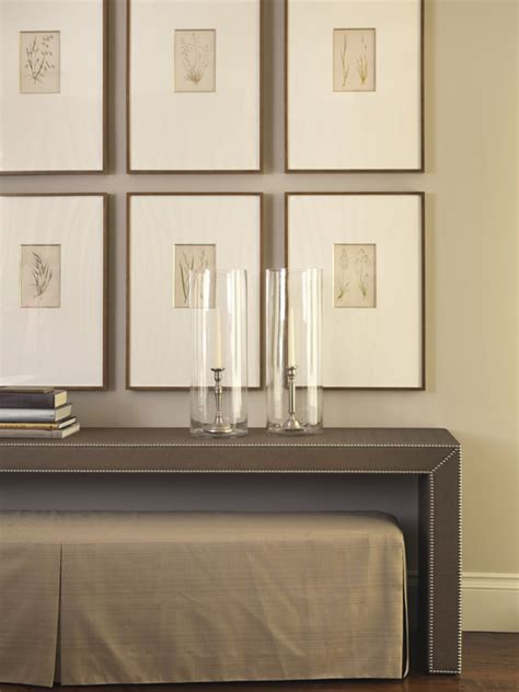 console table and bench five ways to hang art above a console table a thoughtful