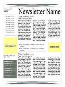 One Page Newsletter Template by Newsletter Templates Free Microsoft Word Templates