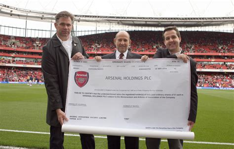 arsenal holdings plc the orphan share arsenal supporters trust