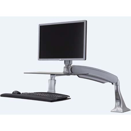 Sit Stand Desk Adapter Workrite Solace Single Or Dual Monitor Sit Stand Workstation