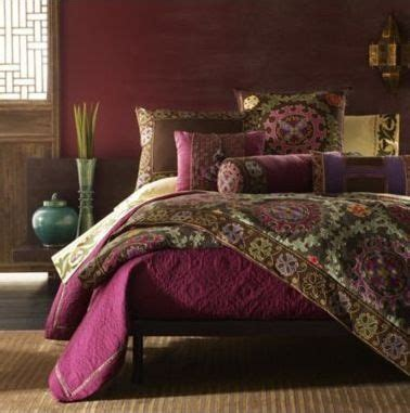 indian inspired bedroom boho eclectic tribal threads varying in colour pattern