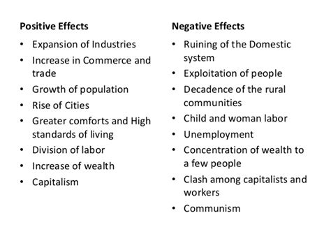 Positive And Negative Effects Of The Industrial Revolution Essay by 4th Grading Review Class Social Studies