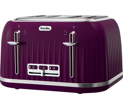 Purple Toaster Oven Buy Breville Impressions Vtt634 4 Slice Toaster Purple
