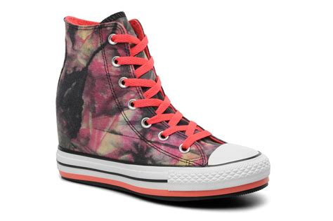 converse chuck all tie dye platform color hi w trainers in multicolor at sarenza