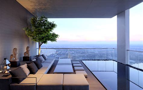 luxury penthouse with terrace and swimming pool for sale in tribeca pano three floors penthouse residence interiorzine