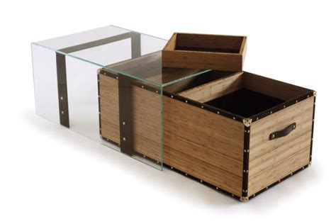 utilitarian luxury bahut container coffee table by d3co