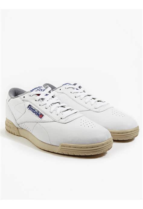 reebok sneakers mens reebok men s white exofit clean logo r12 int sneakers in
