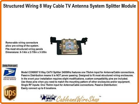 structured wiring   cable tv antenna system splitter