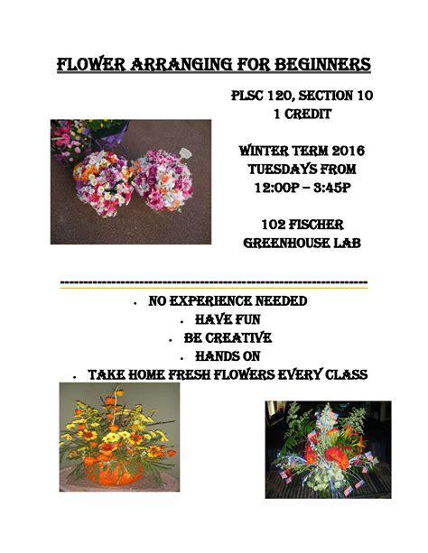 flower arranging for beginners winter 2016 talk of townsend student blog