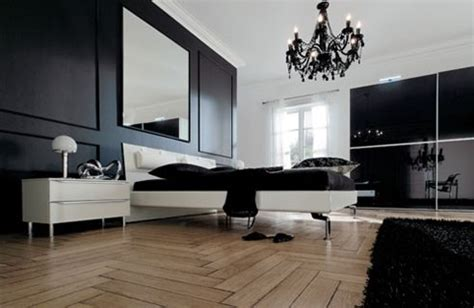 black and white bedroom home trendy