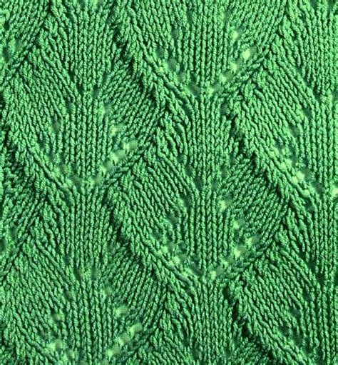 knit leaf pattern 1000 ideas about lace knitting stitches on