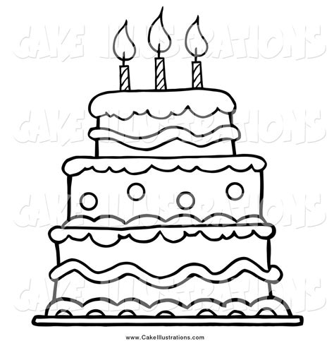 coloring page birthday cake no candles birthday cake clipart black and white no candles