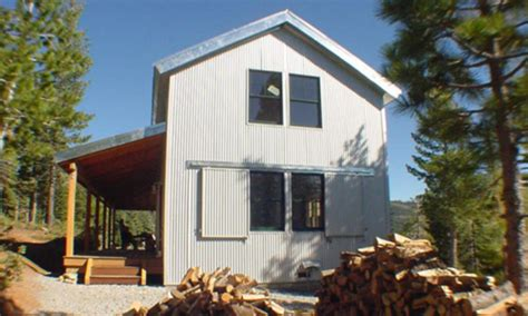 cabin cheery i like corrugated roofing used in essential home reading the new small house time to build