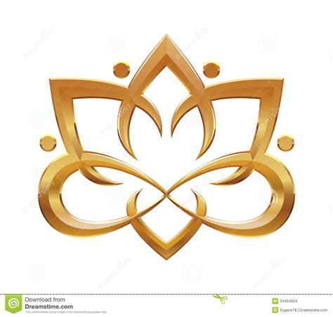 simbolo fiore simbolo astratto fiore di lotus immagini stock