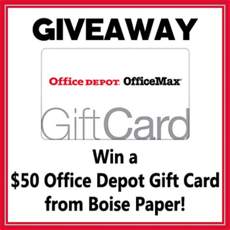 Office Depot Gift Cards - back to school deal on boise paper 50 office depot gc giveaway game on mom