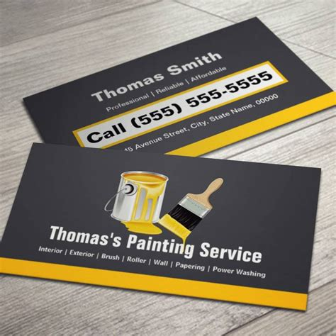 painting contractor business card templates 5 best images of painter business cards painting