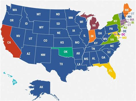 best state for best selling car in every state map business insider