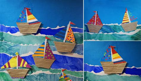 Paper Boat Craft For Preschoolers - boat crafts for edventures with