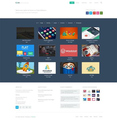 design html template 55 free responsive html5 css3 website templates