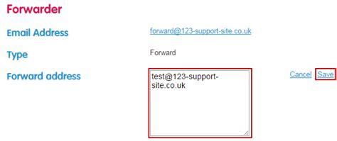 explain forwarding email forwarding explained 123 reg support