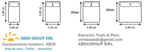 abdk hoteleria equipamiento medidas de sabanas