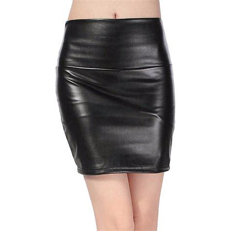 2015 autumn winter fashion skirts pu faux leather