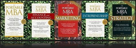 Portable Mba Book by Portable Mba Series Business Educational Materials Free