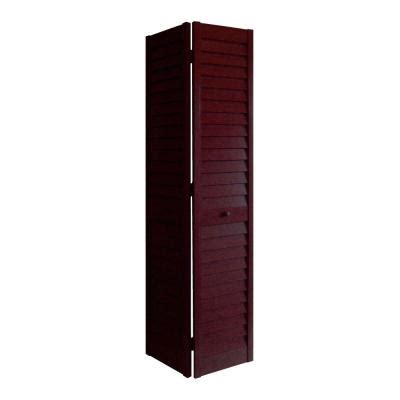 interior louvered doors home depot home fashion technologies 36 in x 80 in 3 in louver louver mahogany composite interior closet