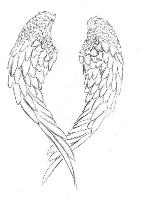 tattoo designs angel wings halo 40 best angel with halo tattoo outline images on pinterest