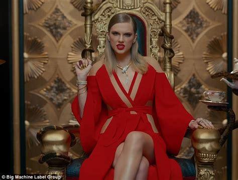 taylor swift dress lyric video taylor swift wears kardashian favorite balmain in video