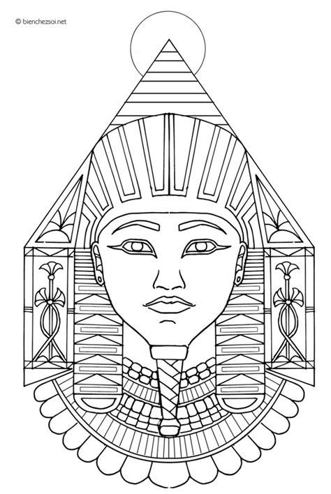 Coloriage Pharaon égyptien, dessin anti-stress gratuit