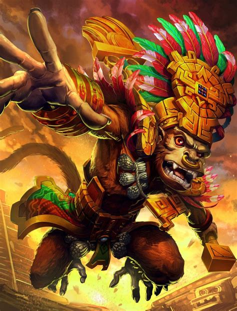 Imagenes Aztecas Chidas | smite hunbatz by brolo on deviantart ilustraciones