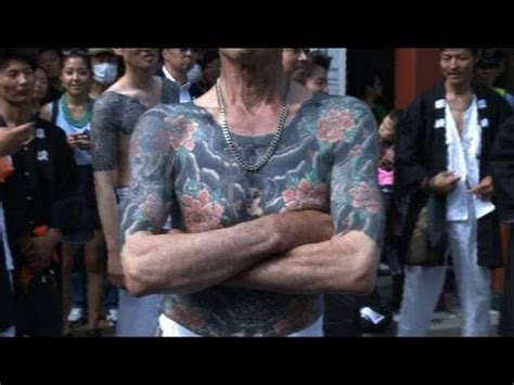 tattoo japanese mafia japanese mafia tattoos paraded at festival youtube