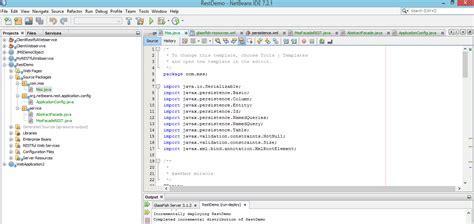 tutorial crud java netbeans rest java restful webservice crud opreation using