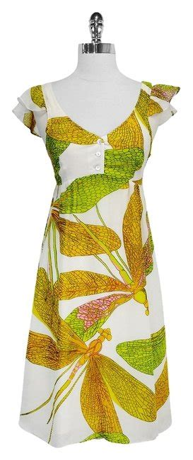 Nieves Lavi Florence Print Dress by Nieves Lavi Dress Silk Dragonfly Print Sz 6 66 Retail