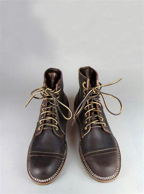 Truman Boot Brown truman boots x mildblend supply co in aubergine cap toe