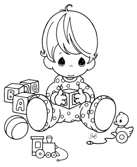 baby precious moments coloring pages coloring pages
