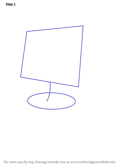 how to draw on computer learn how to draw a computer for computers step by