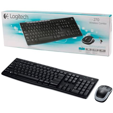 Keyboard Mouse Logitech Usb skn mk270 logitech wireless mk270 keyboard mouse usb