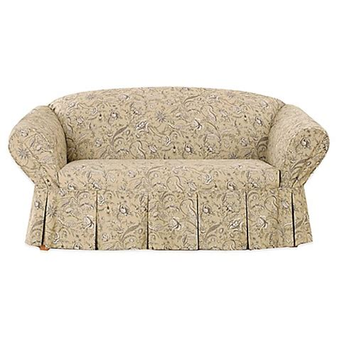 Sure Fit 174 Fanciful Floral By Waverly Loveseat Slipcover Waverly Sofa Slipcovers