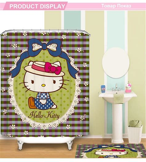hello kitty fabric shower curtain 150x180cm hello kitty shower curtain pattern customized