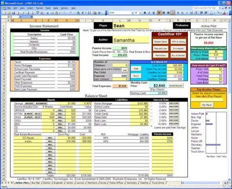 cashflow 101 202 excel spreadsheets rich dad kiyosaki ebay
