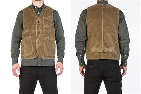 Corduroy Vest tellason trades sleeves for pockets with their corduroy