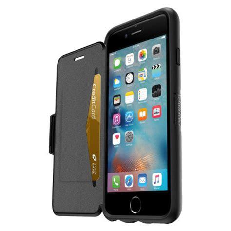otterbox symmetry iphone   folio wallet case black