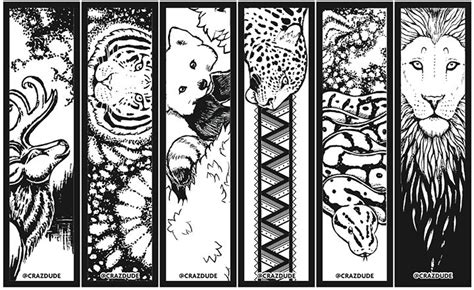 printable animal bookmarks to color 16 best reading images on pinterest adult coloring