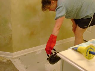 Frazzled Mom And Friends How To Remove Linoleum From Concrete