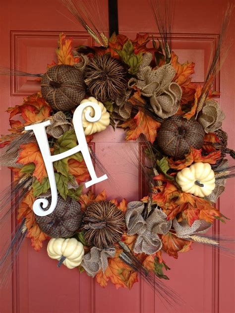 15 decorating ideas for fall wreaths pinterest