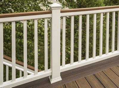Banister Options by Deck Railing Systems Composite Outdoor Deck Railing Trex