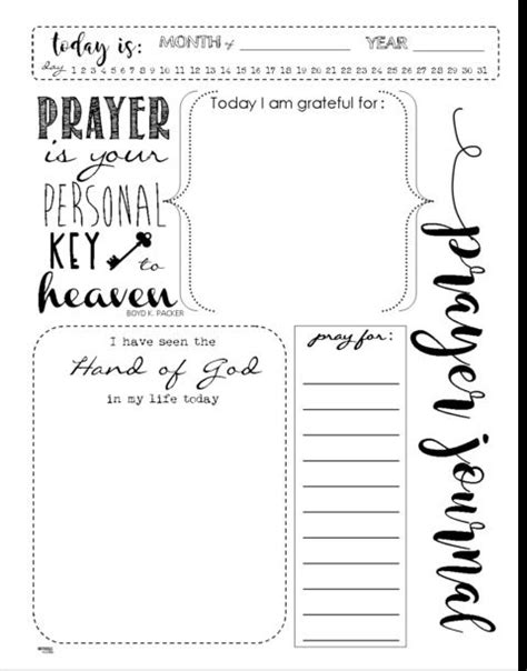 printable prayer journal template prayer journal template doliquid